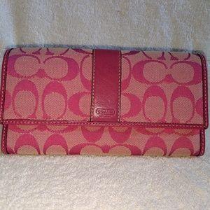 Pink Coach Wallet